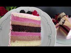 Tort în straturi fine cu mousse de ciocolată și fructe de pădure | Pasiune & Savoare - YouTube Romanian Food, Vanilla Cake, Food Videos, Oreo, Fondant, Anul Nou, Cooking Recipes, Cupcakes, Sweets