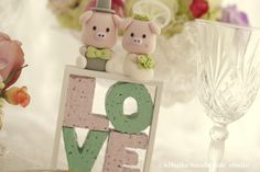 lovely piggy and piglet bride and groom wedding cake topper   Flickr - Photo Sharing!