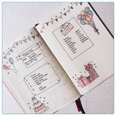 Bullet Journal Party Planning