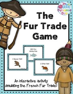 Teaching the Fur Trade? This is a great way to get students thinking using a hands on activity. The activity allows students to be split into five groups. Voyageur Group 1 Voyageur Group 2 The Potawatomi Tribe The Delaware Tribe Social Studies Curriculum, 4th Grade Social Studies, Social Studies Activities, Teaching Social Studies, Interactive Activities, Hands On Activities, Kindergarten Activities, Teaching Maps, Student Teaching