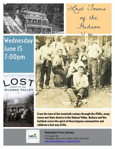 Lost Towns of the Hudson Valley - Wednesday, June 15 at 7:00pm
