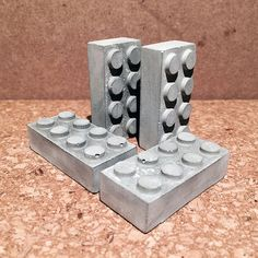 Concrete Lego Brick with Magnet by MrHammerStefan on Etsy