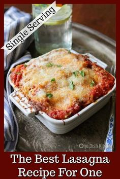 A classic recipe for the best homemade lasagna! This mini lasagna is made with j. A classic recipe for the best homemade lasagna! This mini lasagna is made with just 2 lasagna noodles and layered wi Mini Lasagne, Kitchen Dishes, Kitchen Recipes, Food Dishes, Mini Kitchen, Kitchen Small, Single Serve Meals, Single Serving Recipes, Single Serve Desserts