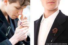 lapel pins, men's accessories, brooches, latest trend, trends 2011, stylish