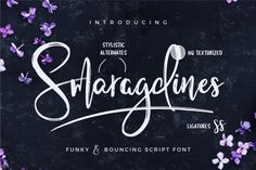 I'm happy to introduce you to my latest script font that I've carefully handwritten in rough, bouncy and funky style! It gives your design that modern, but personal look that will make your packaging designs, logos and text overlays look astonishing.