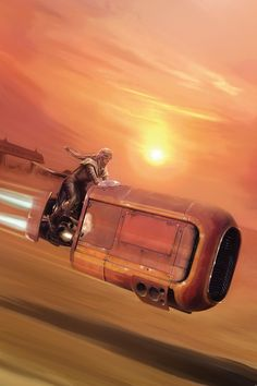 Star Wars VII - The Force Awakens / Rey and your Speeder.