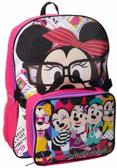 11503e98209 Amazon.com  Disney Little Girls  Minnie Mouse Backpack with Lunch Set