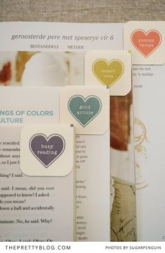 Heart It Bookmarks {Free Printable}