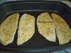 Meine Rezeptwelt: Türkische Pfannen börek mit Hack Füllung auf Pizzapfanne-Kiymali sac böregi: