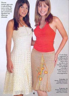 bela haljina i drap suknja