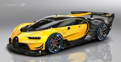 2016 Bugatti Vision Gran Turismo, is coming soon. Bugatti has joined the pantheon of automakers participating in the Vision Gran Turismo video game difficu Bugatti Veyron, Bugatti Cars, Luxury Sports Cars, Exotic Sports Cars, Maserati, Supercars, Mustang, Sweet Cars, Koenigsegg