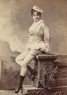 Burlesque dancers of the 18902.  Vintage photos collected by Charles H. McCaghy, a professor emeritus at Bowling Green State University in Ohio, reveal just how different beauty was 120 years ago than it is today.