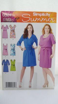 Simplicity Sewing Pattern 1796 Ladies Misses Dress Size 10-18 Uncut
