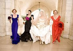 Even Carrie Bradshaw did different bridesmaid dresses...
