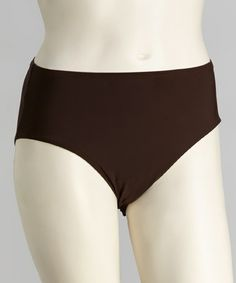 Loving this Brown High-Waisted Bikini Bottoms - Women & Plus on #zulily! #zulilyfinds