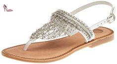 Gioseppo  Myrna, Tongs pour femme argenté 41 EU - Chaussures gioseppo (*Partner-Link)