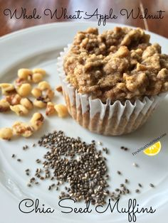 Whole-Wheat Apple Chia Seed Muffins recipe   These muffins have been our go-to after school and lunchbox snack lately. (They're even great for a grab-and-go breakfast.) They're quick and easy, whole grain and packed with fiber and omega-3s. They're made with real maple syrup instead of sugar. They're egg-free, so allergy-friendly.