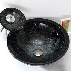 Modern Glas Waschbecken Rund mit Wasserhahn mit günstiger Preis ... | {Waschbecken rund glas 34}