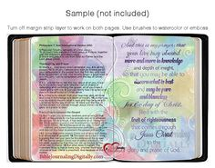 Layered Template for Bible Journaling by DigiScrapDelights on Etsy #biblejournaling