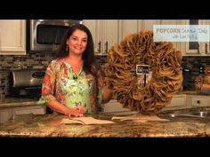 How to Make a Burlap Wreath - YouTube - A different way than the weaving technique
