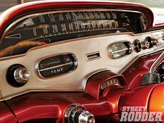 1958 Chevy Impala. The car I've always wanted to refurbish if i ever did. I love the speedometer so much!