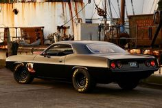 Classic Plymouth Cuda Muscle car