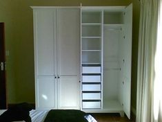 to Add a Closet Where There Is None Bob Vila Adding a Closet where there is none.Add a Closet - Drawer StorageBob Vila Adding a Closet where there is none.Add a Closet - Drawer Storage Stand Alone Closet, Sliding Wardrobe Doors, Diy Wardrobe, Free Standing Closet Systems, Standing Closet, Closet Drawers, Small Closets, No Closet Solutions, Trendy Bedroom