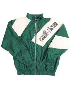 90s Vintage Adidas Mens Full Zip, Lined Windbreaker Jacket | #Mens #Retro #Vintage #Fashion