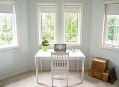 Delorme Designs Morning Jog Valspar And Whispering Spring Benjamin Moore Topsail Sherwin