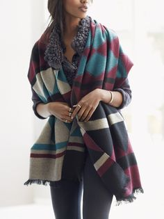 Warm, cozy wrap scarves are a must for fall.