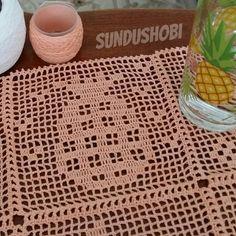 Crochet Blocks, Crochet Squares, Crochet Stitches, Crochet Patterns, Horse Swing, Crochet Carpet, Fillet Crochet, Vintage Stil, Crochet Cardigan