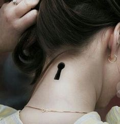 Lock and Key Tattoo #necktattoos