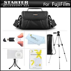 Accessories Kit For Fuji Fujifilm FinePix HS30EXR, Fujifilm X-E1 SL300 S8200 S8300 S8400 S8500 S6800 S4700 S4800, SL1000 HS50EXR, X100S, X20, X-M1, X-E2, S8600, S9200, S9400W, S9800, S9900W, S1, X-T10 -- Check out this great product.