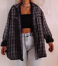 Freund Karohemd Tomboy Outfit Idee- Source by carolinnjg outfits ideas # tomboy outfits Cute Casual Outfits, Retro Outfits, Trendy Winter Outfits, 90s Style Outfits, Winter School Outfits, Edgy School Outfits, Flannel Outfits Summer, Vintage Summer Outfits, Simple Outfits