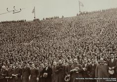 The 1928 FA Cup final crowd sing the national anthem