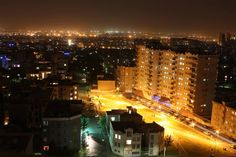 Poonak area of #Tehran at night