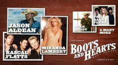 Aldean, Flatts, Lambert, Band Perry and me...Boots & Hearts 2013