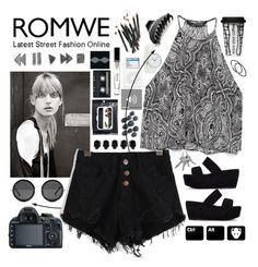 """""""#ROMWE shorts"""" by nastja-markina ❤ liked on Polyvore"""