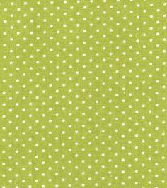 Keepsake Calico Cotton Fabric- Green Dot