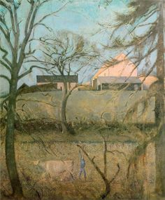 Big Landscape with Cow (Balthus). For our final project pastel painting on a textured ground (April). Pierre Bonnard, Modern Artists, French Artists, Joan Miro, Landscape Art, Landscape Paintings, Armin, Andrew Wyeth, Art Database