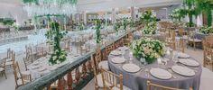A Romantic Green and White Beverly Wilshire Wedding - International Event Company Sunset Wedding, Wedding Day, Beverly Wilshire, Cruise Wedding, Event Company, Chuppah, Edge Design, Beautiful Gardens, Table Settings