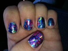 Foil nail art by Heather Nye.