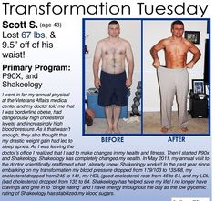 Transformation Tuesday...This guy had so many health issues to start - high blood pressure, high cholesterol, borderline obese AND sleep apnea! With his hard work and consistency with P90X and the use of Shakeology to get his nutrition and help with his overall health, he managed to see amazing results! If you or someone you know is ready to make a change, I am here to help! Message me varonbbc@gmail.com to talk or comment below.