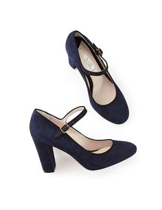 Boden mary jane heels in navy suede