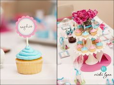 cupcake toppers - love the font