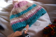 Gorro mujer colores pastel.