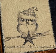 baby Christmas owl by Michelle Palmer