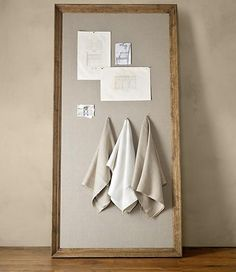 DIY Tutorial: Diy Pinboard / DIY Restoration Hardware Bulletin Board - BeadCord