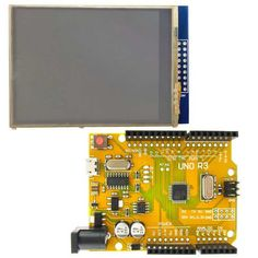 """Golden UNO R3 ATmega328P Improved Development Board + 2.8"""" TFT LCD Touch Screen Shield for Arduino"". About Micro USB UNO R3 development board: - It is 100% compatible with Arduino UNO R3 program, expansion shields, IDE. - You can burn the program with your mobile phone's micro USB cable. - It use the micro USB socket which it is very short, so it is compatible with more expansion boards. - On-board test indicator LED, and the beginners can program to control it. - USB interface driver…"
