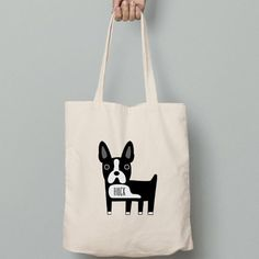 Boston Terrier canvas tote bag personalized just for you